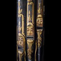 Lübeck, St. Jakobi (Kleine Orgel), Bemalte Prospektpfeifen der großen Orgel