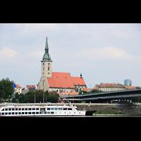 Bratislava (Pressburg), Dóm sv. Martina (Dom St. Martin) - Hauptorgel, Dom vom Petrzalka (Engerau) aus