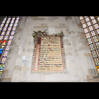 Bratislava (Pressburg), Dóm sv. Martina (Dom St. Martin) - Hauptorgel, Krönungsliste der Könige