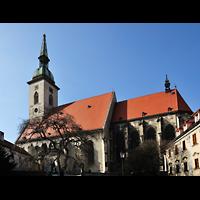Bratislava (Pressburg), Dóm sv. Martina (Dom St. Martin) - Hauptorgel, Seitenansicht von außen