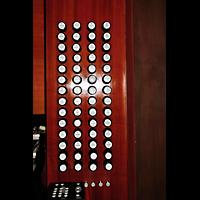 Bratislava (Pressburg), Dóm sv. Martina (Dom St. Martin) - Hauptorgel, Rechte Registerstaffel am Spieltisch