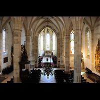 Bratislava (Pressburg), Dóm sv. Martina (Dom St. Martin) - Hauptorgel, Blick von der Orgelempore ins Hauptschiff