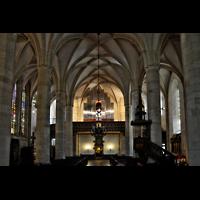 Bratislava (Pressburg), Dóm sv. Martina (Dom St. Martin) - Hauptorgel, Innenraum / Hauptschiff in Richtung Orgel