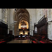 Bratislava (Pressburg), Dóm sv. Martina (Dom St. Martin) - Hauptorgel, Blick vom Chorraum zur Orgel