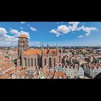 Gdansk (Danzig), Bazylika Mariacka (St. Marien), Außenansicht von Süden