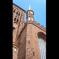 Gdansk (Danzig), Bazylika Mariacka (St. Marien), Eine der Fialen an der Südfassade
