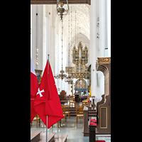 Gdansk (Danzig), Bazylika Mariacka (St. Marien), Blick vom Altarraum durchs Hauptschiff zur Orgel