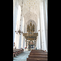 Gdansk (Danzig), Bazylika Mariacka (St. Marien), Hauptschiff in Richtung Orgel