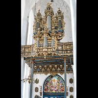 Gdansk (Danzig), Bazylika Mariacka (St. Marien), Orgelempore seitlich von unten