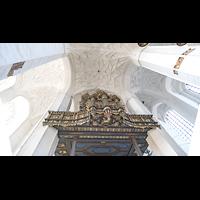 Gdansk (Danzig), Bazylika Mariacka (St. Marien), Orgelempore von unten