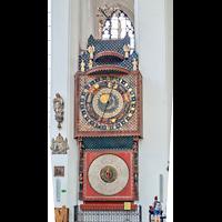 Gdansk (Danzig), Bazylika Mariacka (St. Marien), Astronomische Uhr im linken Seitenschiff