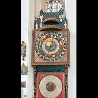Gdansk (Danzig), Bazylika Mariacka (St. Marien), Astronomische Uhr on Hans Düringer (Nürnberg, 1470) mit liturgischem Kalender