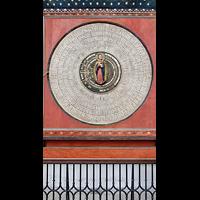 Gdansk (Danzig), Bazylika Mariacka (St. Marien), Ziffenblatt der astronomischen Uhr