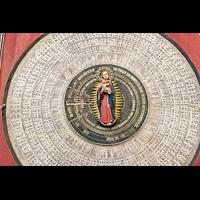 Gdansk (Danzig), Bazylika Mariacka (St. Marien), Marienfigur in der Mitte der astronomischen Uhr