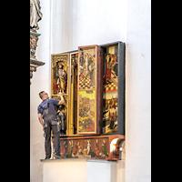 Gdansk (Danzig), Bazylika Mariacka (St. Marien), Altar der hl. Barbara, Anfang des 16. Jh. gestiftet von den Schuhknechten