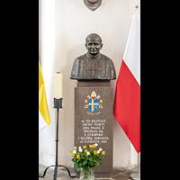 Gdansk (Danzig), Bazylika Mariacka (St. Marien), Bronzeplastik Papst Johannes Paul II.