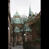 Münster, Dom St. Paulus, Außenansicht vom Chor