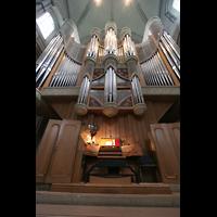Münster, Dom St. Paulus, Hauptorgel mit Spieltisch