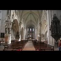 Münster, Dom St. Paulus, Innenraum / Hauptschiff in Richtung Chor