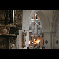 Münster, Dom St. Paulus, Blick durch die Bögen zur Hautporgel
