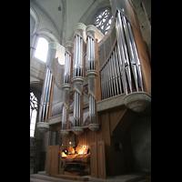 Münster, Dom St. Paulus, Spieltisch mit Orgel