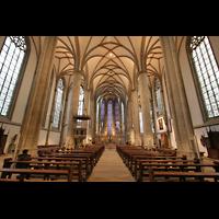 Münster, St. Lamberti (Chororgel), Innenraum / Hauptschiff in Richtung Chor