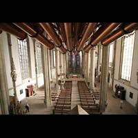Münster, St. Lamberti (Chororgel), Blick von den Spanischen Trompeten in die Kirche