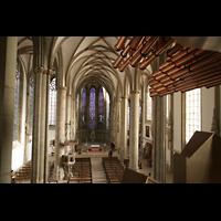 Münster, St. Lamberti (Chororgel), Blick von den Spanischen Trompeten zur Chororgel