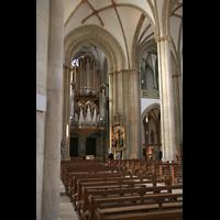 Münster, St. Lamberti (Chororgel), Innenraum / Hauptschiff in Richtung Orgel