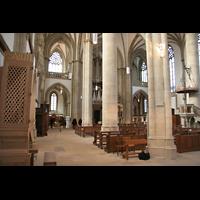 Münster, St. Lamberti (Hauptorgel), Blick von der Chororgel zur großen Orgel