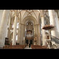 Münster, St. Lamberti (Hauptorgel), Innenraum / Hauptschiff in Richtung Orgel