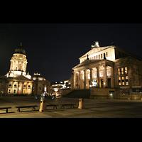 Berlin (Mitte), Konzerthaus, Großer Saal, Konzerthaus und deutscher Dom bei Nacht