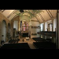 Stuttgart, Stiftskirche (Chororgel), Blick von der Orgelempore in die Kirche