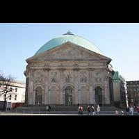 Berlin (Mitte), St. Hedwigs-Kathedrale, Fassade mit Hauptportal