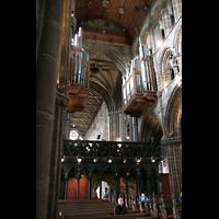 Glasgow, St. Mungo Cathedral, Blick vom Chor in Richtung Orgel und Hauptschiff