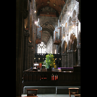 Glasgow, St. Mungo Cathedral, Innenraum / Hauptschiff in Richtung Rückwand