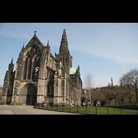 Glasgow, St. Mungo Cathedral, Kathedrale mit Garten