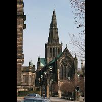 Glasgow, St. Mungo Cathedral, Blick von der Cathedral Street auf die Kathedrale