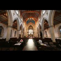 Glasgow, St. Mary's Episcopal Cathedral, Innenraum / Hauptschiff in Richtung Chor