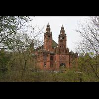 Glasgow, Kelvingrove Museum, Concert Hall, Außenansicht vom Kelvingrove Park aus