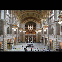 Glasgow, Kelvingrove Museum, Concert Hall, Orgel in der Haupthalle