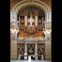 Glasgow, Kelvingrove Museum, Concert Hall, Orgelempore