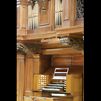 Glasgow, Kelvingrove Museum, Concert Hall, Spieltisch mit Orgel