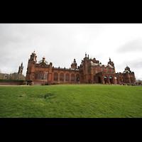 Glasgow, Kelvingrove Museum, Concert Hall, Seitenansicht von außen