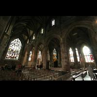 Edinburgh, St. Giles' Cathedral, Innenraum / Hauptschiff in Richtung Hauptportal