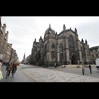 Edinburgh, St. Giles' Cathedral, Ansicht von der Royal Mile aus