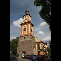 Berlin (Wilmersdorf), Lindenkirche, Horizonale Regalpfeifen der Chororgel