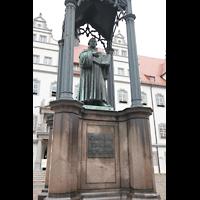 Wittenberg, Stadtkirche, Luther-Denkmal