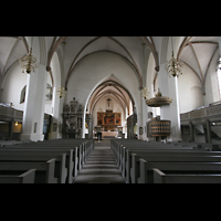 Wittenberg, Stadtkirche, Innenraum / Hauptschiff in Richtung Chor