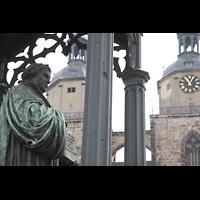 Wittenberg, Stadtkirche, Luther-Denkmal und Türme